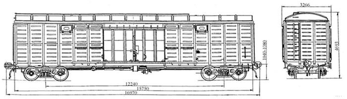 Грузоподъемность, тонн: 68 Масса тары вагона, тонн: 24,7/26,0 Размеры вагона внутренние, м (Длина/Ширина): 15,724/2...